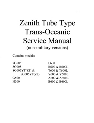 Zenith Transoceanic Service Manual. This Is A Digitally Copied And Enhanced Manual For The Zenith Tube Type Transoceanic Receivers It Made Up Of Service Sheets From. Wiring. Zenith Tube Radio Schematics H500 At Scoala.co