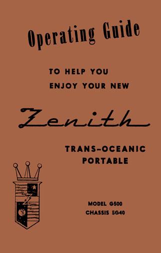 zenith g500 manual